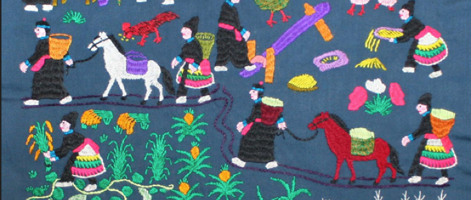 Hmong Story Cloth picture